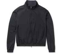 Slim-fit Reversible Storm System Shell And Cashmere Bomber Jacket