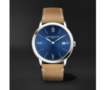 Classima 40mm Stainless Steel and Leather Watch, Ref. No. 10385