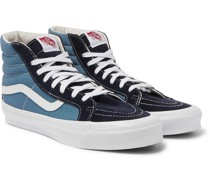 OG SK8-HI LX Leather-Trimmed Canvas and Suede High-Top Sneakers