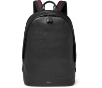 Textured-leather Backpack