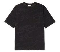 Distressed Camouflage-print Cotton-jersey T-shirt