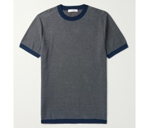 Mélange Knitted Cotton T-Shirt