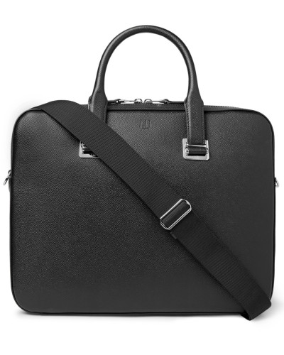 Cadogan Full-grain Leather Briefcase - Black