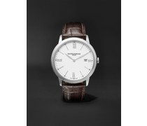 Classima 40mm Steel and Croc-Effect Leather Watch, Ref. No. 10507