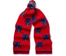 Jacquard-knit Wool Scarf