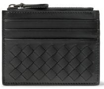 Intrecciato Leather Zipped Cardholder