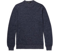 Mélange Cashmere, Silk And Linen-blend Sweater