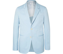 Blue Slim-fit Stretch-cotton Suit Jacket