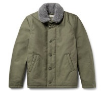 Hunter Faux Shearling-lined Dwr-coated Organic Cotton-canvas Coat