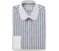 + Turnbull & Asser Slim-Fit Penny-Collar Herringbone Cotton Shirt