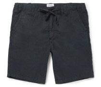 Slim-fit Drawstring Cotton Shorts