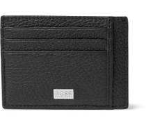 Crosstown Full-grain Leather Cardholder - Black