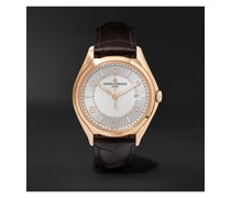 Fiftysix Automatic 40mm 18-Karat Pink Gold and Alligator Watch, Ref. No. 4600E/000R-B441 X46R2019