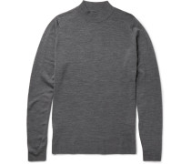 Funnel-neck New Wool Sweater