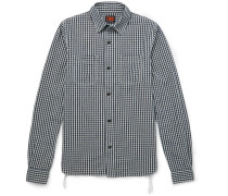 Checked Cotton And Linen-blend Flannel Shirt