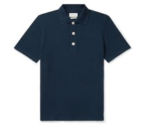 Tabley Striped Organic Cotton Polo Shirt