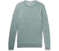 Theon Mélange Cotton And Cashmere-blend Sweater