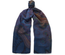 Paisley Wool And Silk-blend Scarf