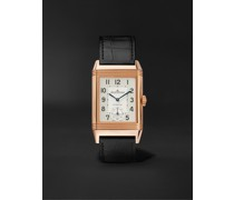 Reverso Classic Large Duoface Automatic 28mm 18-Karat Rose Gold and Alligator Watch, Ref. No. Q1368470