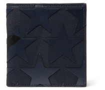 Star-appliquéd Canvas And Leather Billfold Wallet