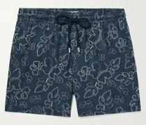 Moorise Printed Mid-Length Swim Shorts