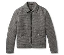 Puppytooth Wool Blouson Jacket