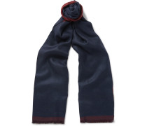 Double-sided Cashmere And Silk-blend Scarf