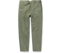 Tapered Cotton-canvas Trousers
