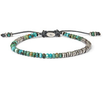 Ingot Sterling Silver And Turquoise Bracelet