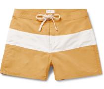 Grant Short-length Striped Swim Shorts