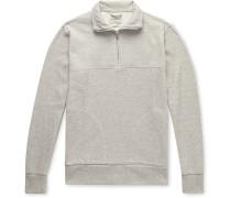 Milner Mélange Ribbed Cotton Half-Zip Sweatshirt