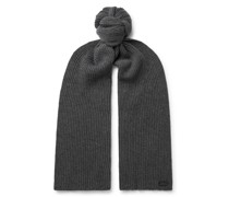 Cable-Knit Wool and Cashmere-Blend Scarf