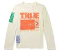 Appliquéd Printed Cotton-Jersey T-Shirt