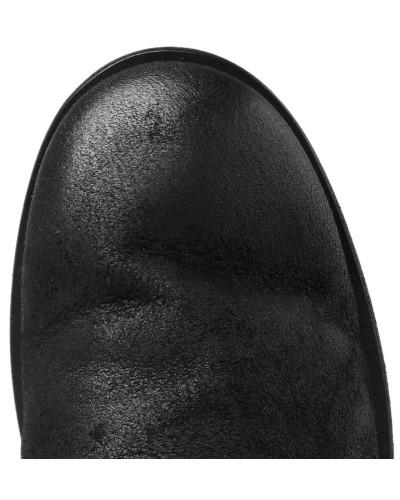 Burnished-suede Derby Shoes - Black