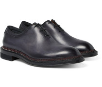 Whole-cut Leather Oxford Shoes