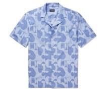 Camp-Collar Printed Cotton Shirt