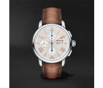 Star Legacy Automatic Chronograph 43mm Stainless Steel and Alligator Watch, Ref. No. 126080