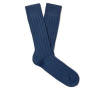 Ribbed Cashmere-Blend Socks