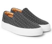 Polka-dot Canvas Slip-on Sneakers