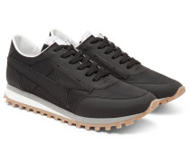 Bolt Matte-leather And Shell Sneakers