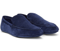 Walk At Home Suede Slippers