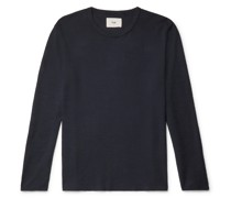 Waffle-Knit Organic Cotton T-Shirt