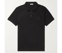 Slim-Fit Logo-Embroidered Cotton-Piqué Polo Shirt