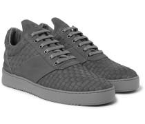 Woven Nubuck Sneakers