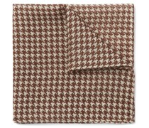 Houndstooth Wool and Silk-Blend Pocket Square