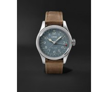 Big Crown Pointer Date Automatic 40mm Stainless Steel and Suede Watch, Ref. No. 01 754 7741 4065-07 5 20 63