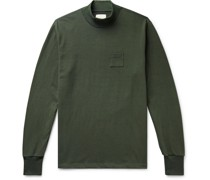 Cotton-Jersey Mock-Neck T-Shirt