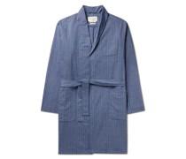 Townsend Striped Organic Cotton-Blend Robe