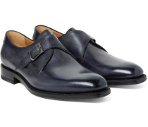 Polished-leather Monk-strap Shoes