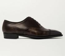 Nakagawa Burnished-Leather Oxford Shoes
